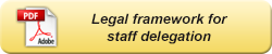 Legal framework for staff delegation